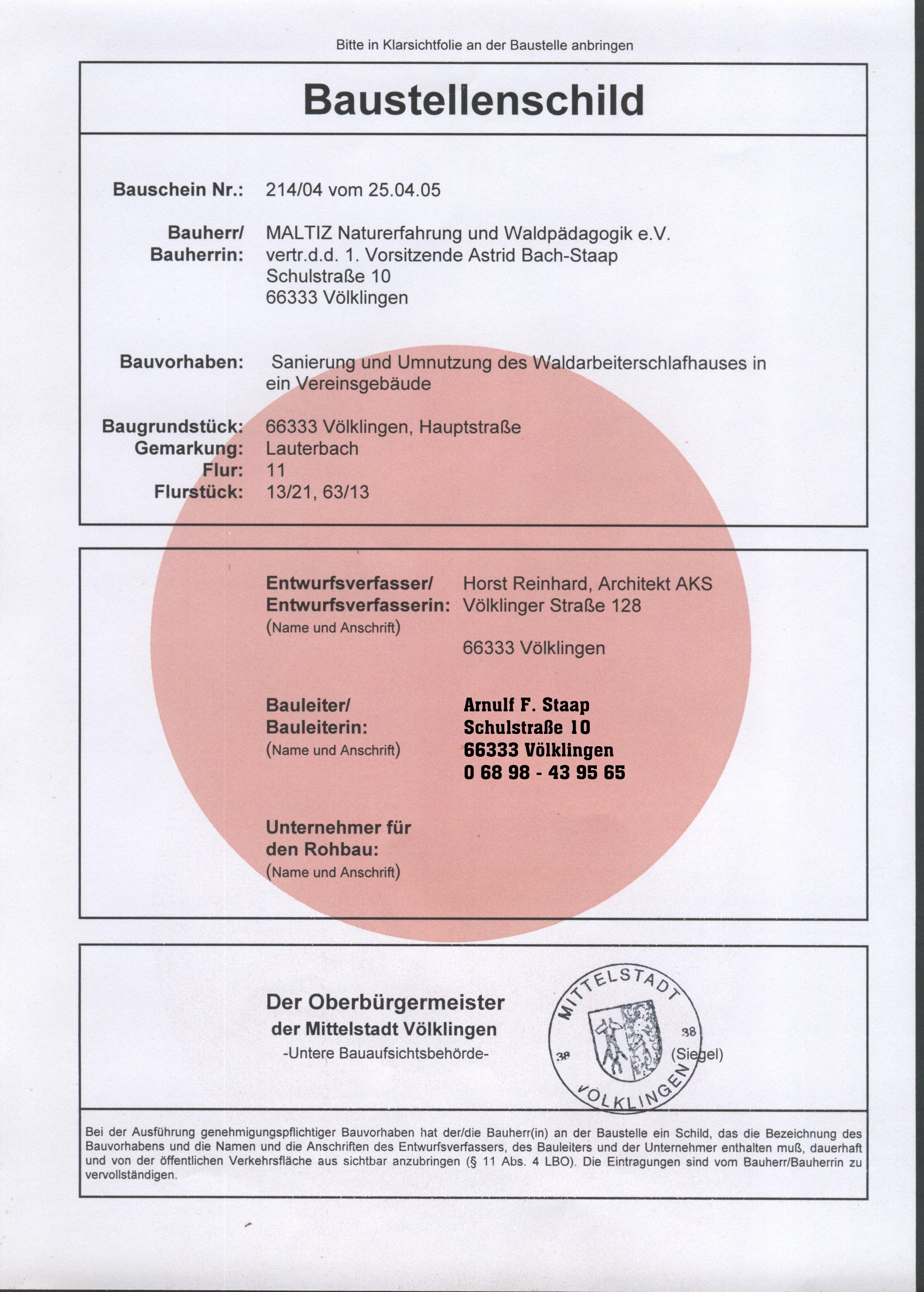 Baustellenschild - tektorum.de